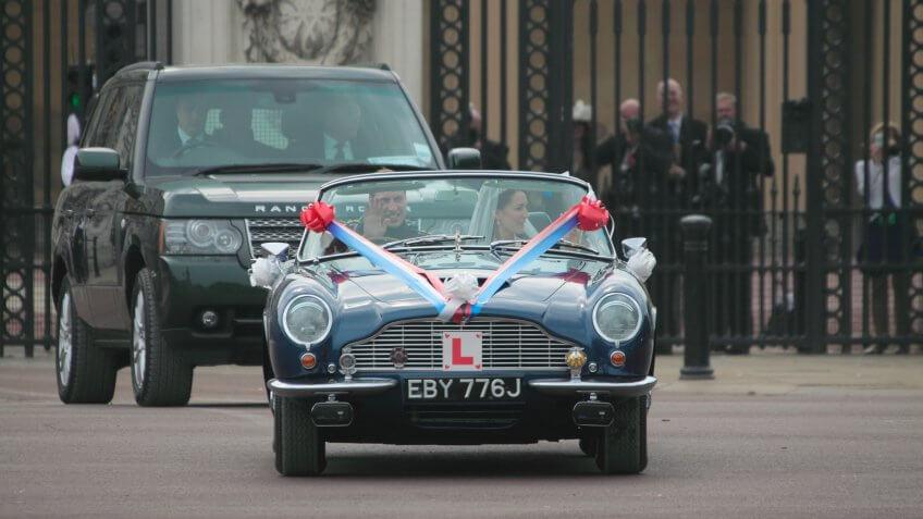 royal family driving car