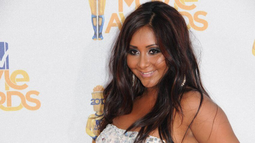 Nicole 'Snookie' Polizzi at the 2010 MTV Movie Awards Arrivals, Gibson Amphitheatre, Universal City, CA.