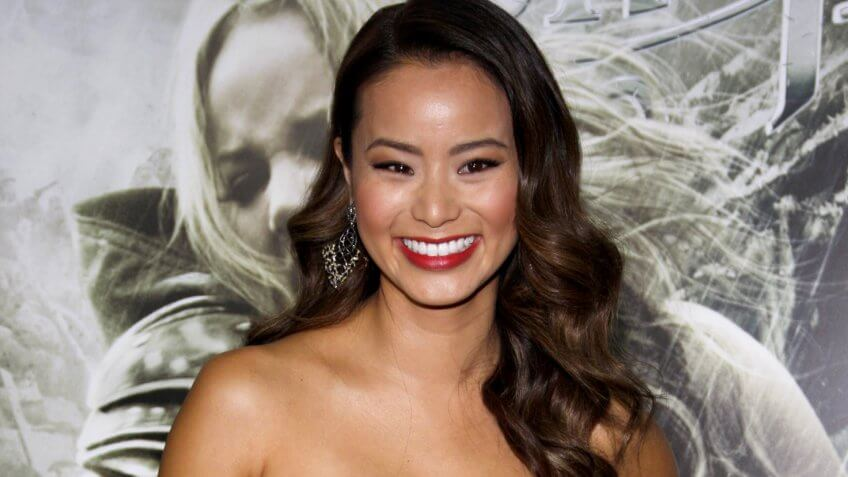 Jamie Chung at the Los Angeles premiere of 'Sucker Punch' held at the Grauman's Chinese Theater in Hollywood on March 23, 2011.