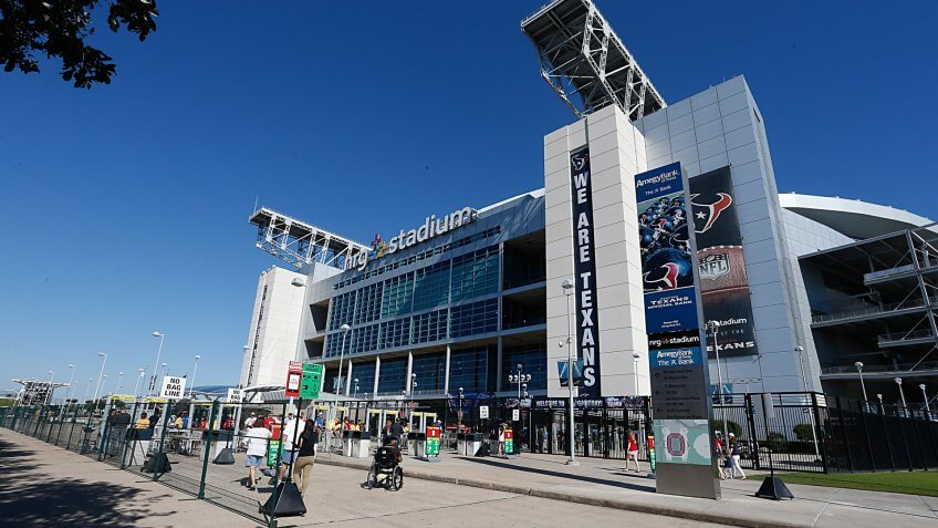 HOUSTON, TX - SEPTEMBER 13: A general view of the stadium before the Houston Texans play the Kansas City Chiefs in a NFL game on September 13, 2015 at NRG Stadium in Houston, Texas.