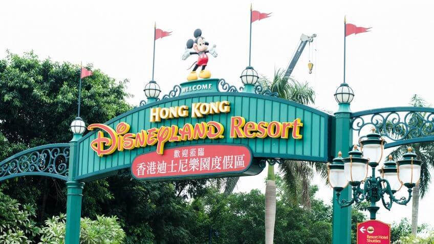HONG KONG, CHINA - NOVEMBER 14 2012: Hong Kong Disneyland in Hong Kong.