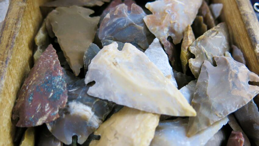 Carved Rock Indian Native American Arrowhead Collection.