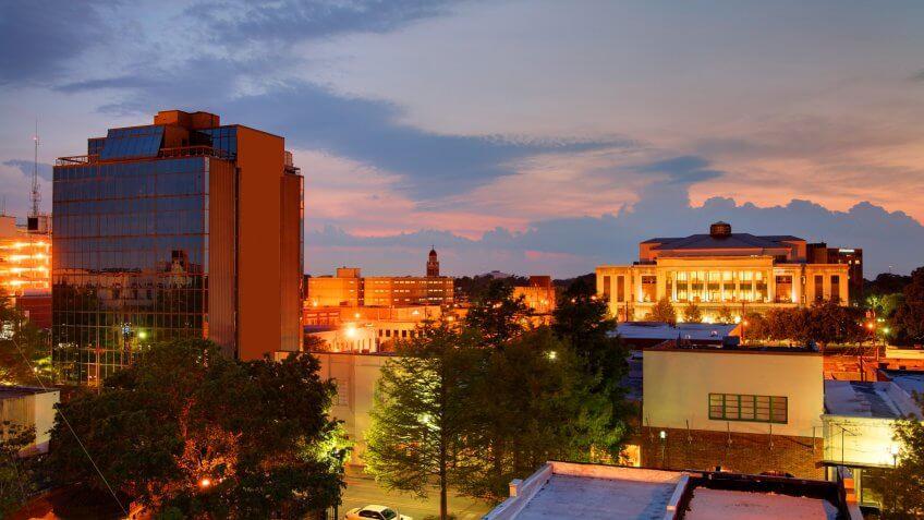Downtown Lafayette, Louisiana.