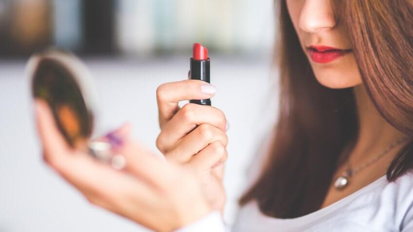 cosmetics, lipstick, makeup