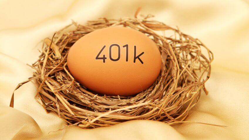 401k on egg in nest.