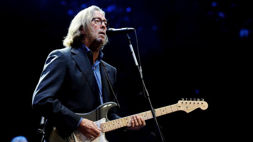 LONDON, ENGLAND - NOVEMBER 17:  (EXCLUSIVE COVERAGE)  Eric Clapton performs at The Prince's Trust Rock Gala 2010 supported by Novae at the Royal Albert Hall on November 17, 2010 in London, England.