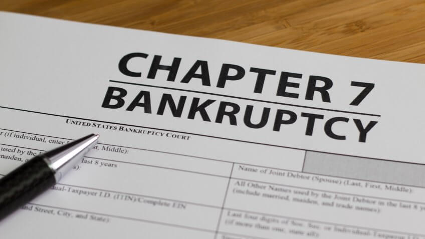 Documents for filing bankruptcy Chapter 7.