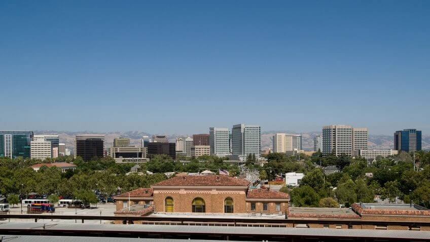 San Jose, CA skyline.