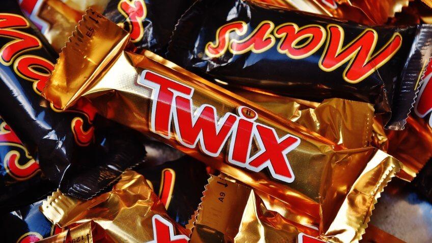 Mars, Twix, chocolate bars