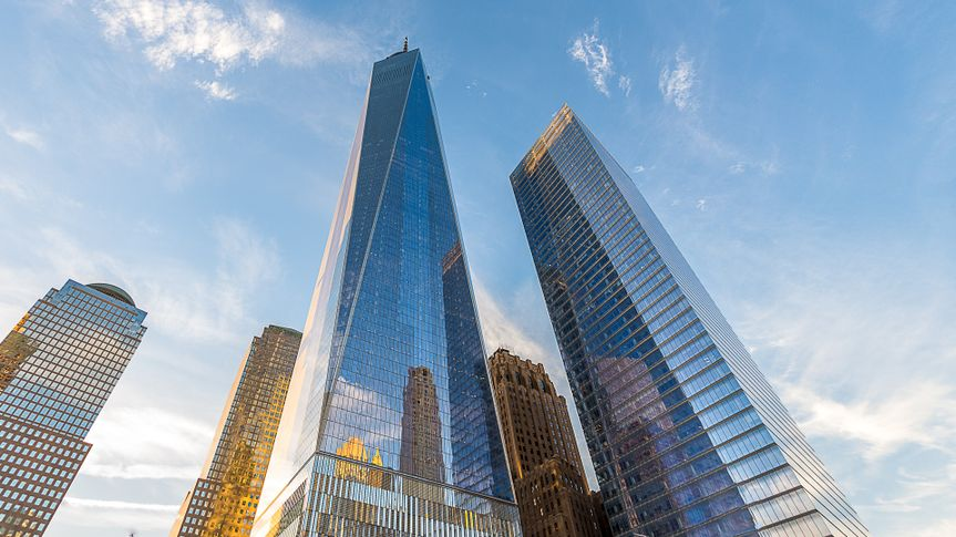 An Epic perspective of the Freedom Tower!.