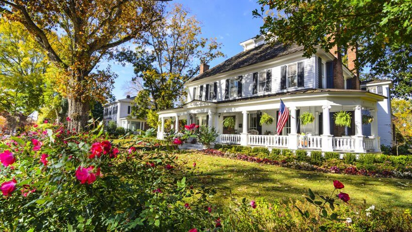 Madison, Georgia, USA antebellum homes district.