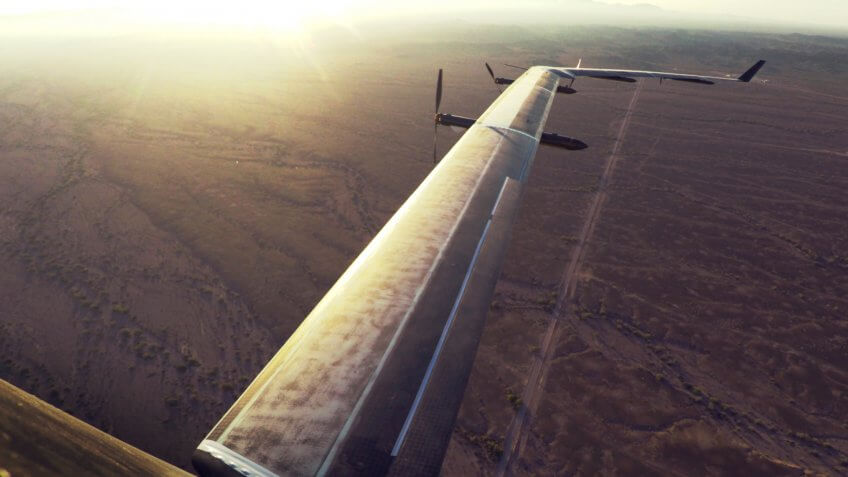 Aquila in flight, wing view