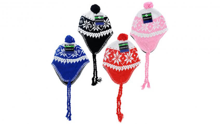 Kids' Brightly Colored Peruvian Hats