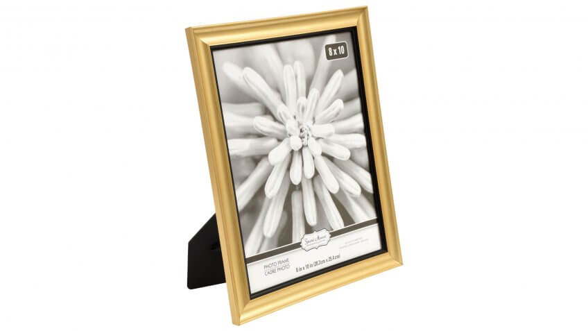 Special Moments Concave Gold Picture Frames with Black Inner Edge, 8x10