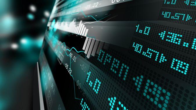 Data analyzing in stock market.