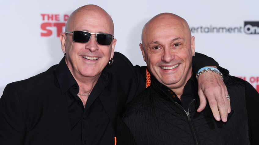 Mandatory Credit: Photo by David Fisher/REX/Shutterstock (9140036m)Right Said Fred'The Death of Stalin' film premiere, London, UK - 17 Oct 2017.