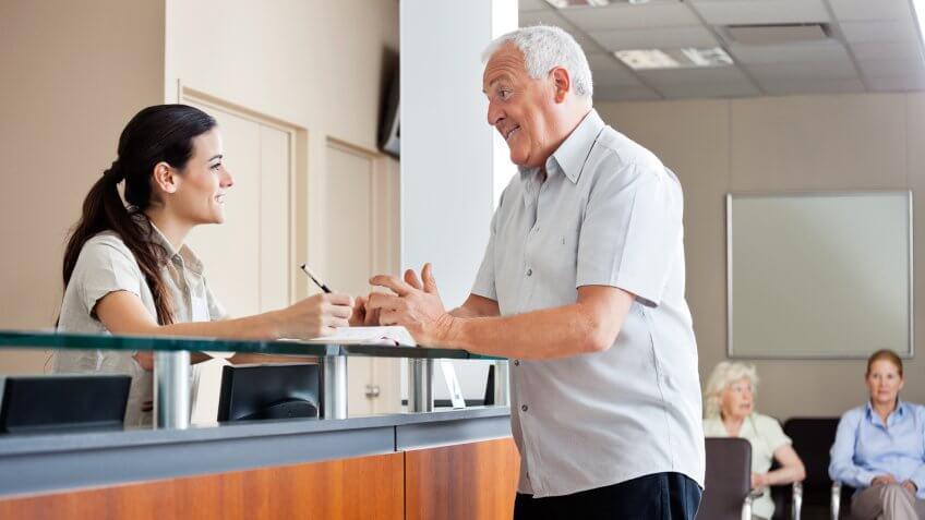 senior man hospital
