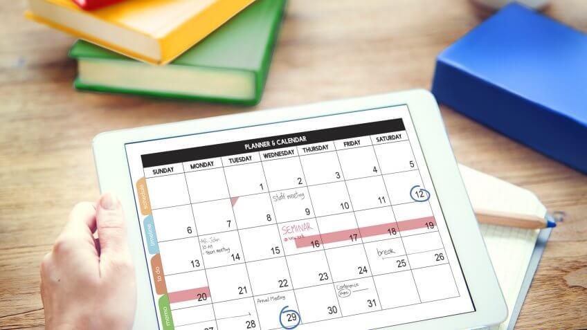 Marked calendar