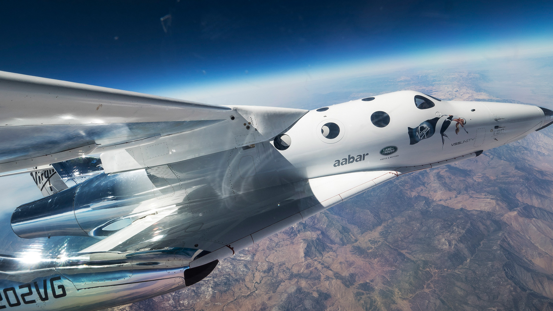 VMS Eve (Virgin Mother Ship) carries VSS Unity (Virgin Spaceship) for its first flight