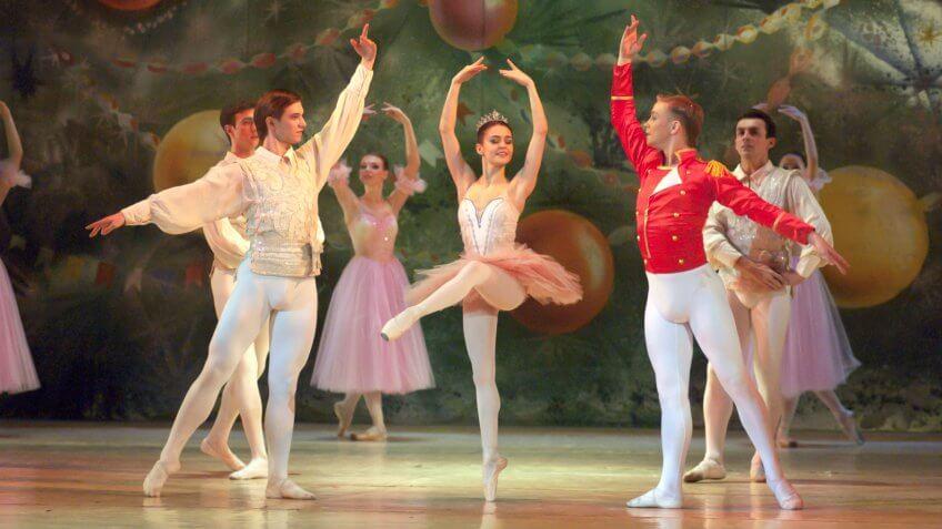 DNEPROPETROVSK, UKRAINE - DECEMBER 30: Nutcracker ballet performed by Dnepropetrovsk Opera and Ballet Theatre ballet on December 30, 2012 in Dnepropetrovsk, Ukraine.