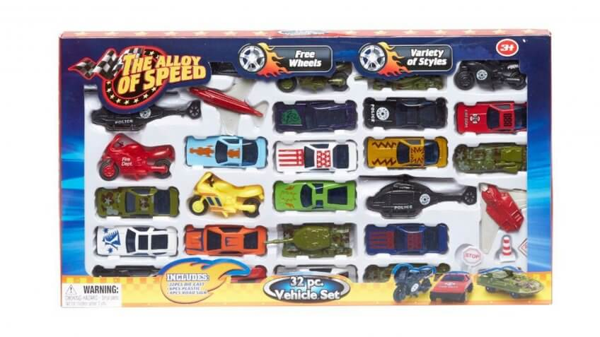 The Alloy of Speed 32-Piece Vehicle Set