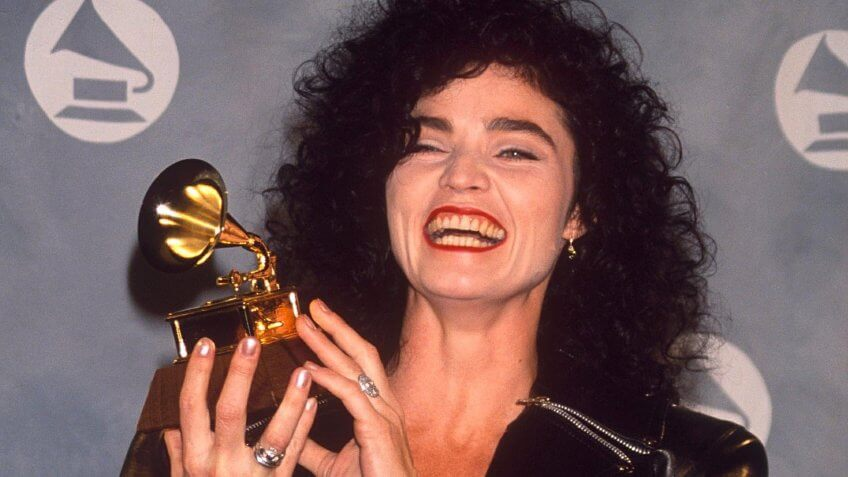 Mandatory Credit: Photo by Dave Lewis/REX/Shutterstock (182105a)ALANNAH MYLESVARIOUS STARS AT THE GRAMMY AWARDS, AMERICA - 1991.