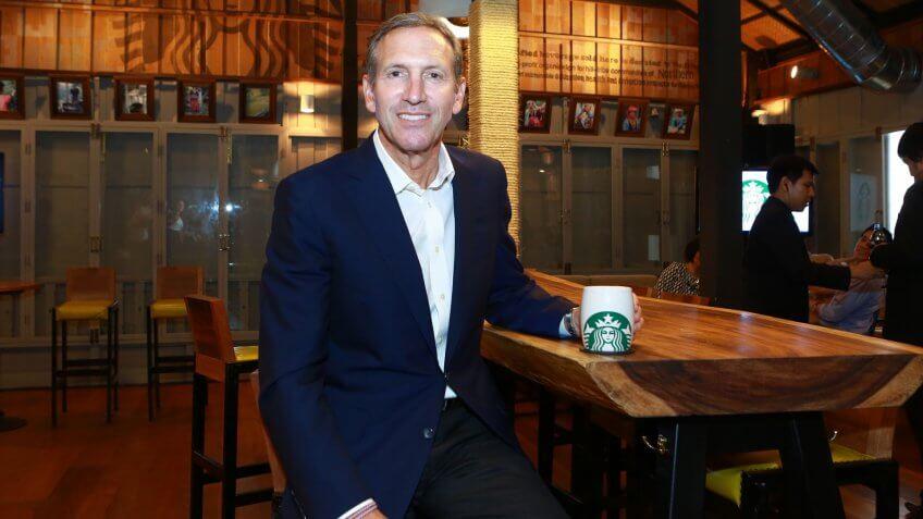 Howard Schultz, CEO of Starbucks.