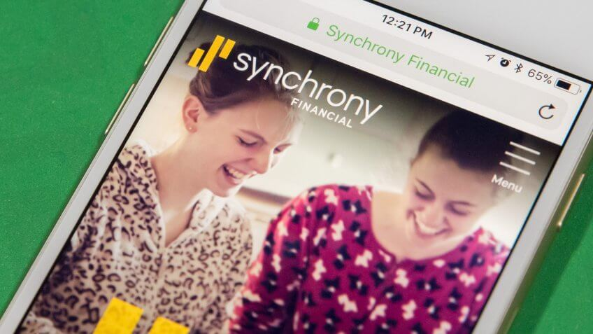 Synchrony Financial app on smartphone
