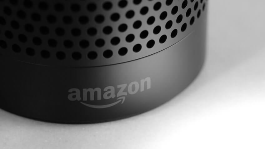 technology industry Amazon Echo speaker close-up