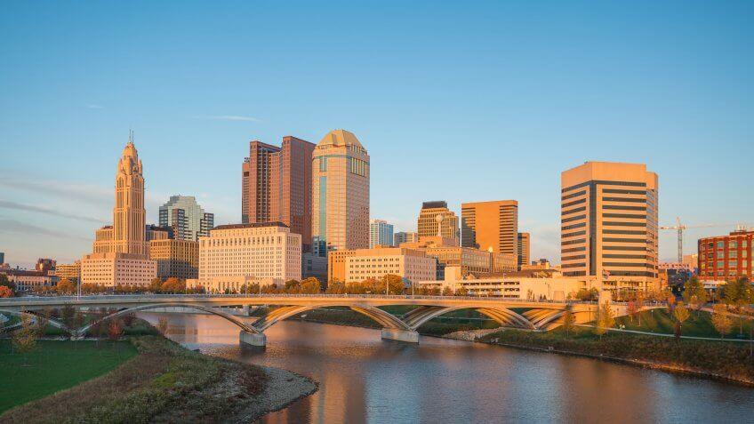 11716, Cities, Columbus Ohio, Horizontal, US, USA, United States, america