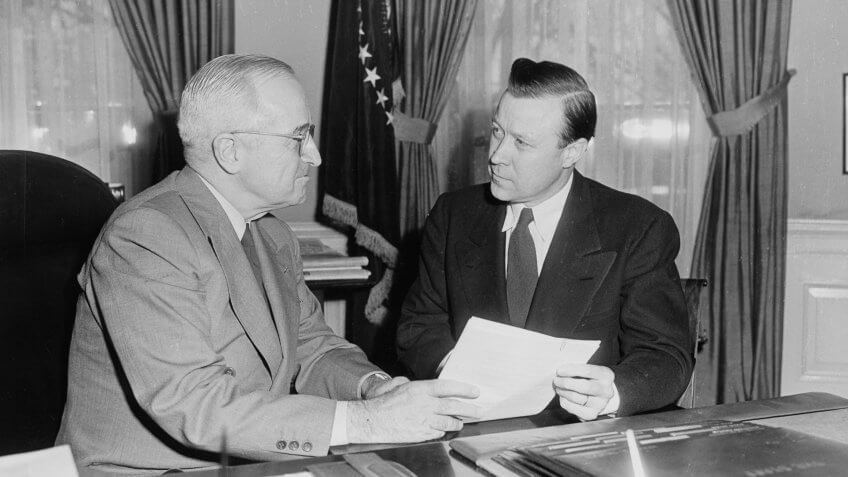 1952-President-Truman-Walter-Reuther