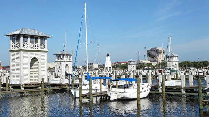 Gulfport is the second largest city in Mississippi after the state capital Jackson.