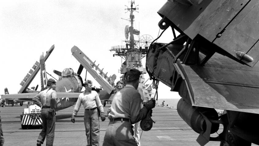 """Stand By to Receive Aircraft"" means one thing for the line crew aboard the USS BOXER."