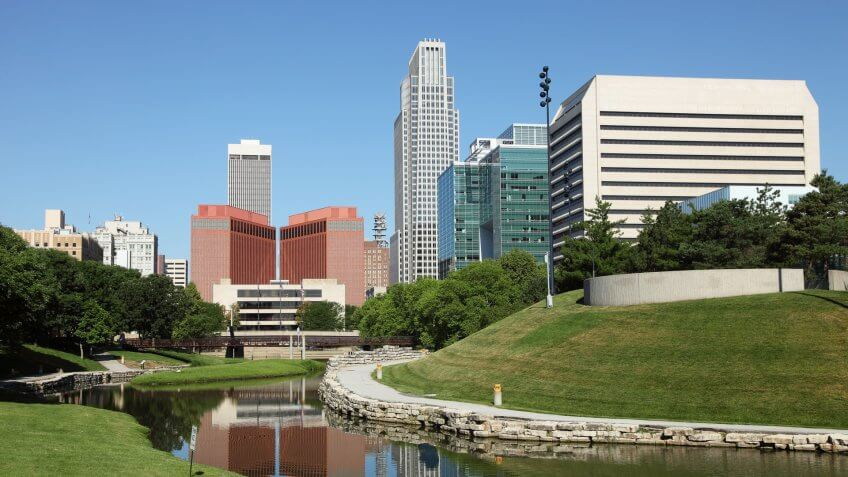 """Downtown Omaha, NebraskaMore Omaha images""."