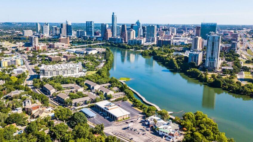 Austin Texas aerial view