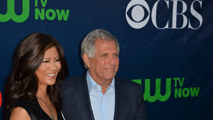 LOS ANGELES, CA - AUGUST 10, 2015: Leslie Moonves & wife Julie Chen at the CBS - Showtime & CW Summer TCA Party at the Pacific Design Centre, West Hollywood.