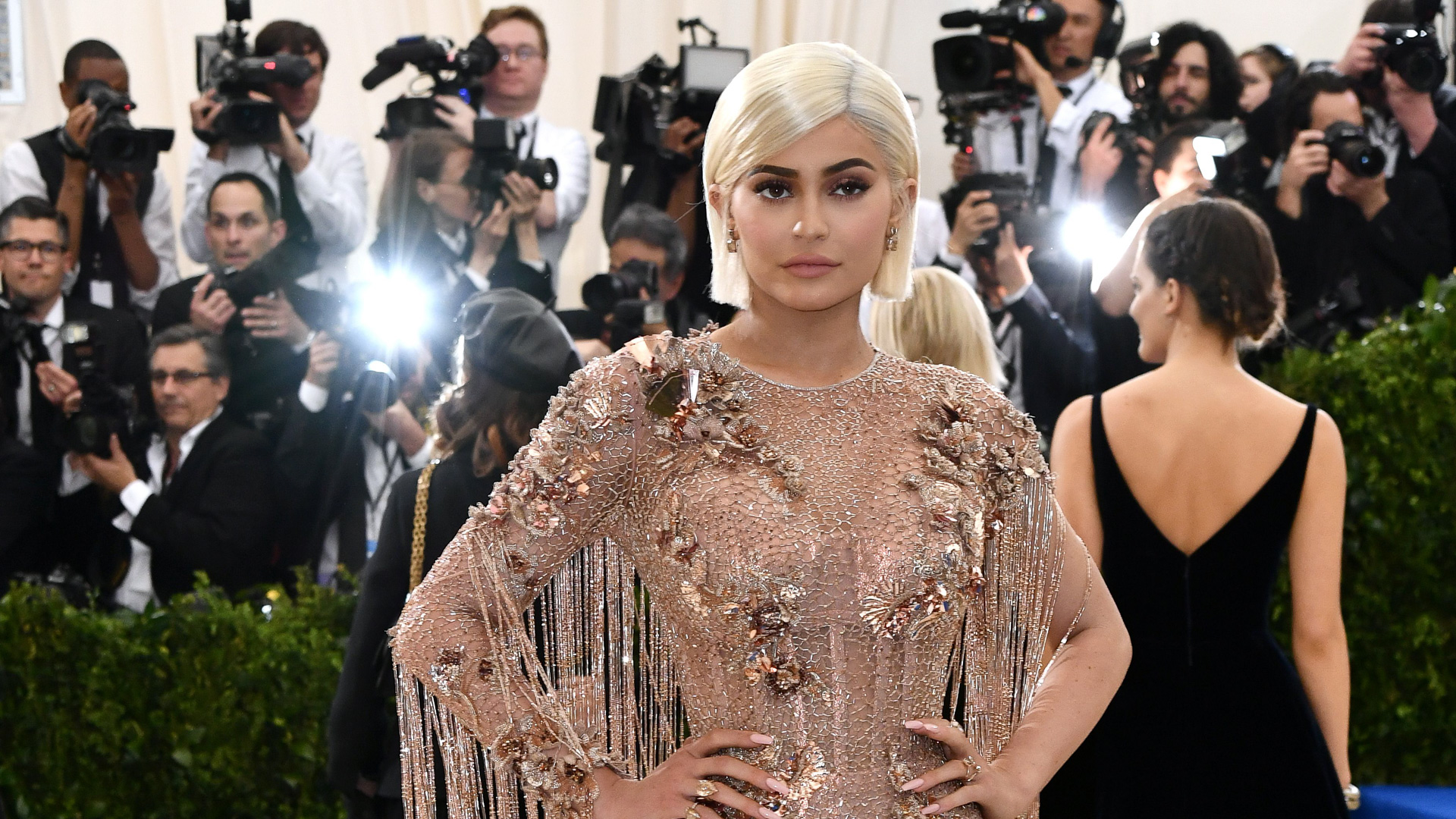 Mandatory Credit: Photo by Rob Latour/REX/Shutterstock (8773345jy) Kylie Jenner The Costume Institute Benefit celebrating the opening of Rei Kawakubo/Comme des Garcons: Art of the In-Between, Arrivals, The Metropolitan Museum of Art, New York, USA - 01 May 2017.