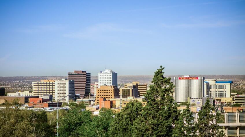 Albuquerque new mexico skyline of downtown.