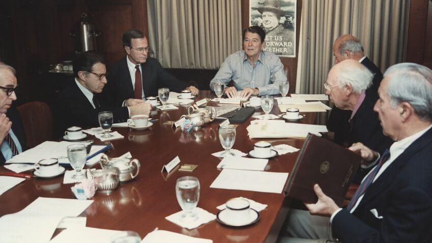 1985-President-Reagan-NSC-Meeting