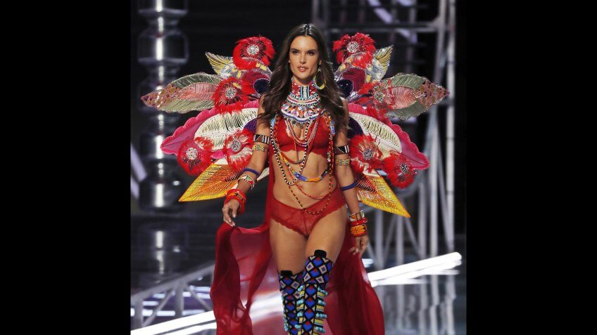 Brazilian Alessandra Ambrosio presents a creation during the Victoria's Secret fashion show at the Mercedes-Benz Arena in Shanghai, ChinaVictoria Secret, Shanghai, China - 20 Nov 2017.