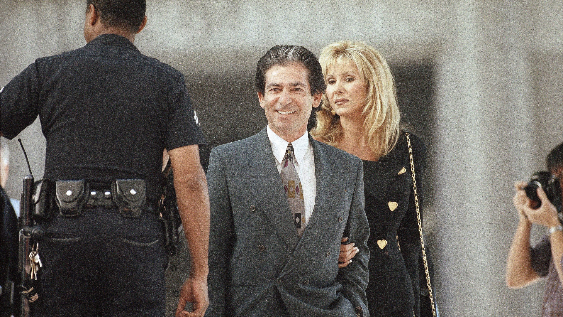 Mandatory Credit: Photo by Dana Fisher/AP/REX/Shutterstock (6526165a) Robert Kardashian, Denice Shakarian Halicki O.
