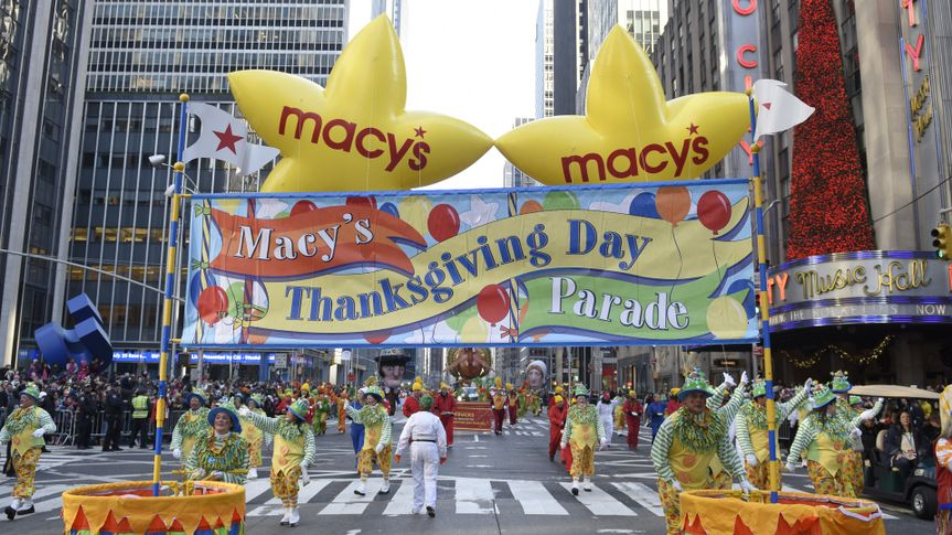 Macy's Thanksgiving Day Parade sign