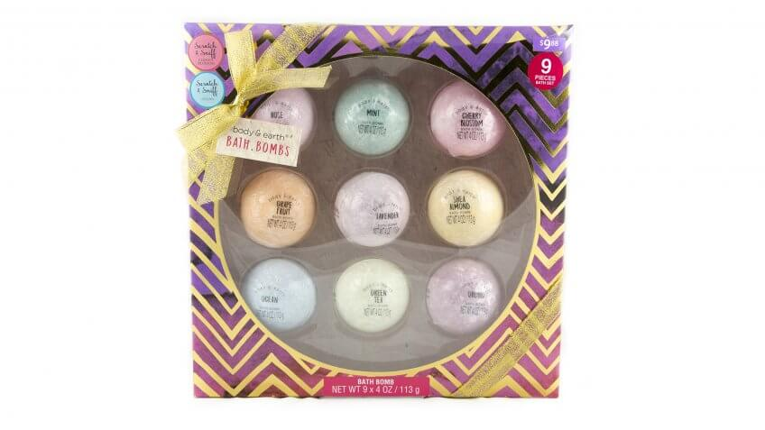 4 oz, 9 count, Body & Earth Bath Bomb Gift Set