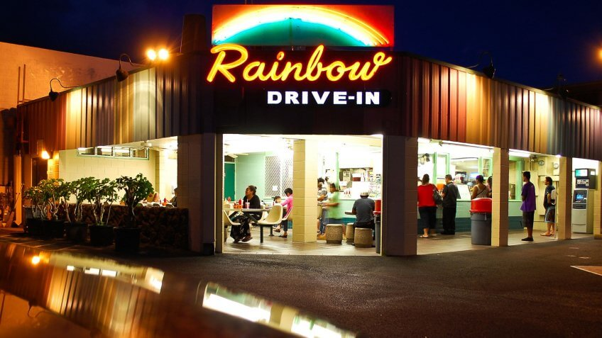 Hawaii: Rainbow Drive-In.