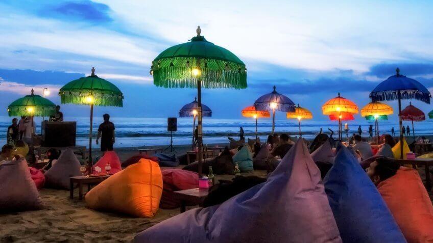 Enjoy sunset at Bali - Indonesia.
