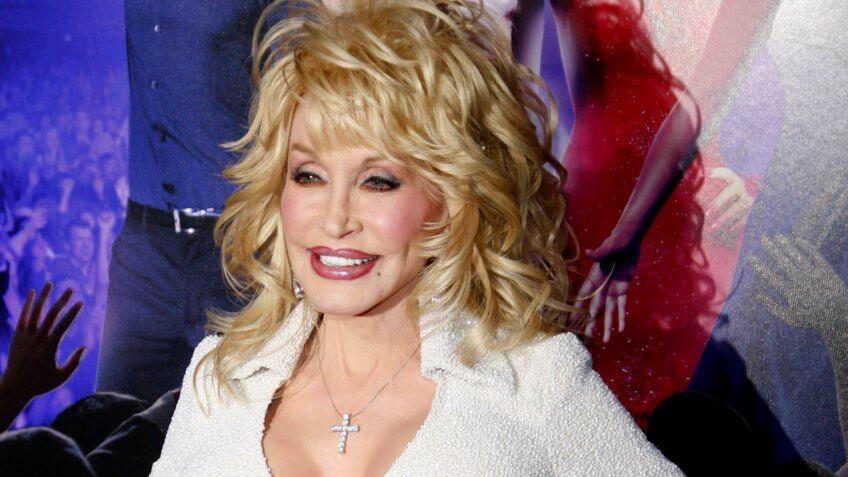 """Dolly Parton at the Los Angeles Premiere of """"Joyful Noise"""" held at the Grauman's Chinese Theater in Los Angeles, California, United States on January 9, 2012."""