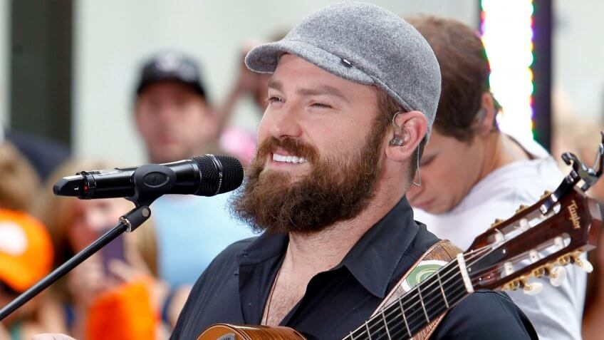 The Zac Brown Band performs on the Today Show at Rockefeller Plaza on July 13, 2012 in New York City.