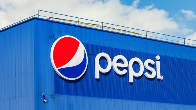 SAMARA, RUSSIA - MARCH 20, 2016: Logotype of Pepsi Corporation against the blue sky.