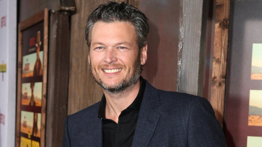 "Blake Shelton at the ""The Ridiculous 6"" Los Angeles Premiere at the AMC Universal City Walk on November 30, 2015 in Los Angeles, CA."