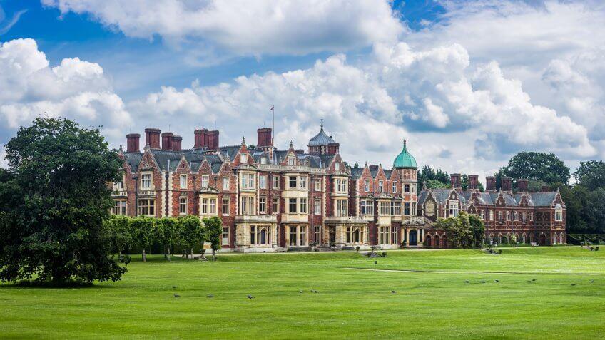 UK, Norfolk, Sandringham Estate, 2016, June, 15: Sandringham house, the Queen's country residence in Norfolk, UK.
